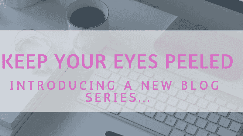 Introducing… a new blog series!